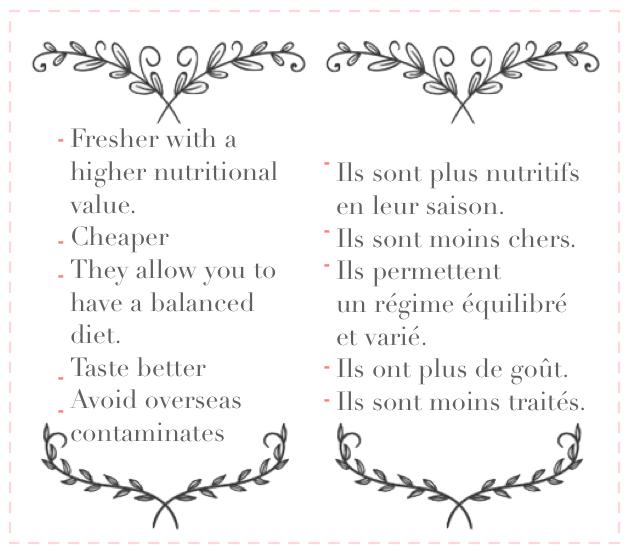 fruits et légumes en leur saison
